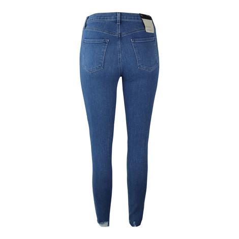 J Brand Alana High Rise Crop Skinny True Love Destruct Jean