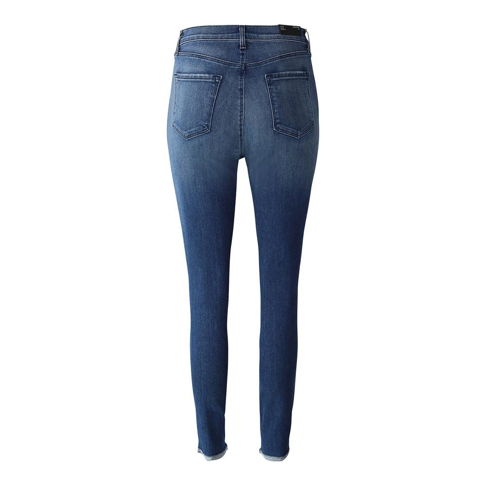 J Brand Leenah High Rise Ankle Skinny Moonless Distressed Jean Mid Wash Denim