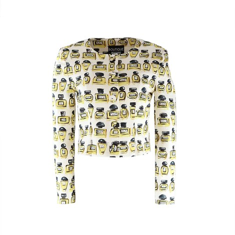 Moschino Boutique Perfume Bottle Print Jacket