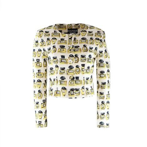 Moschino Boutique Perfume Bottle Print Jacket