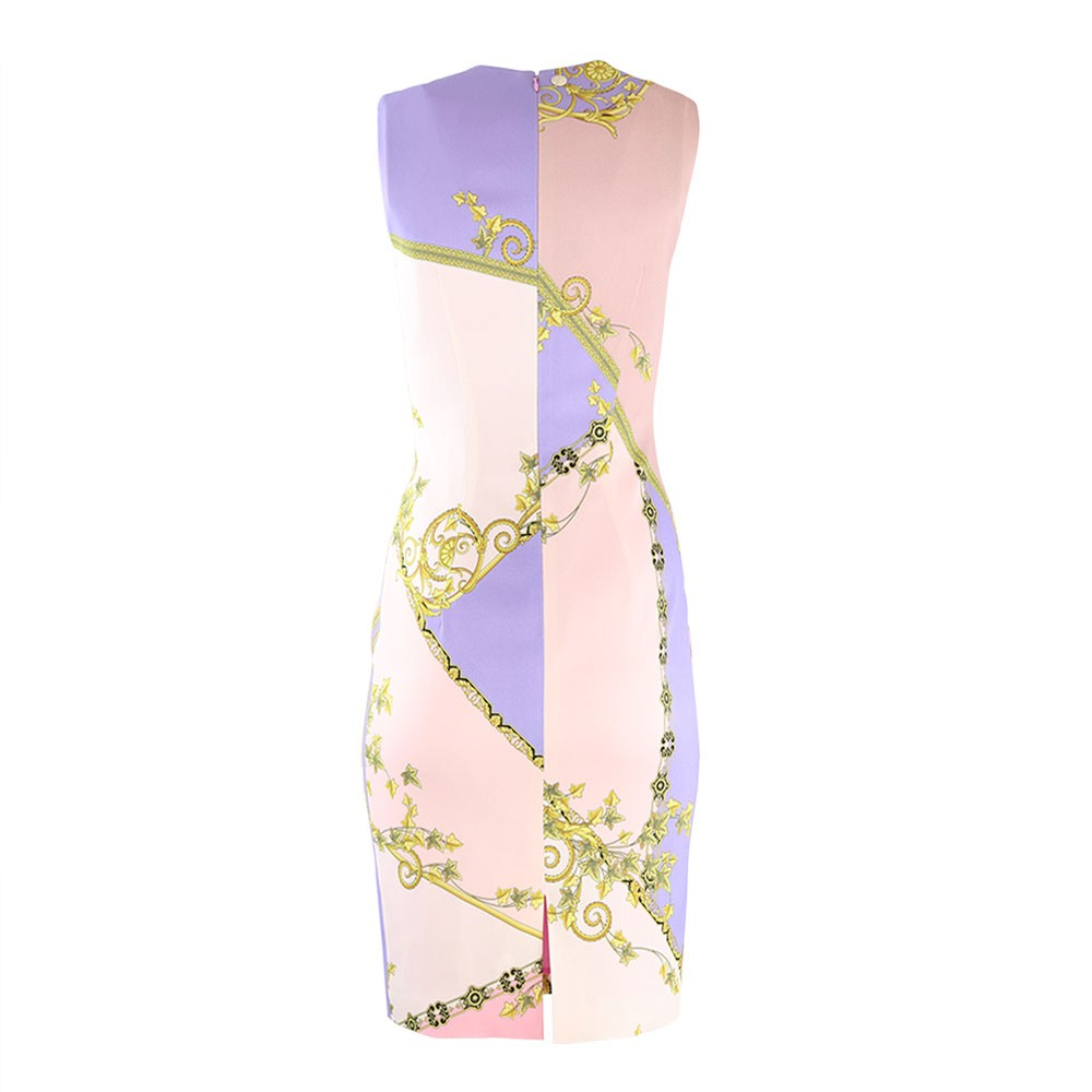 Versace Collection Print Dress Pink