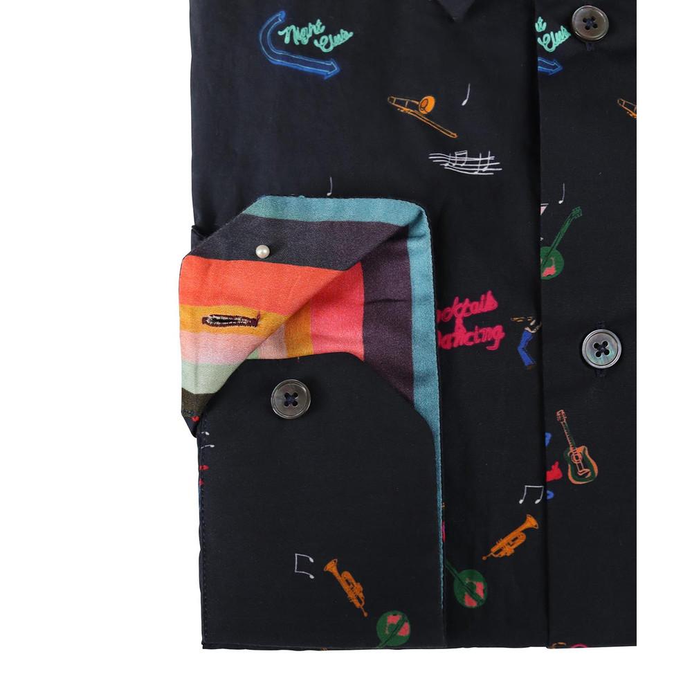 Paul Smith Gents S/C Slim Shirt Black