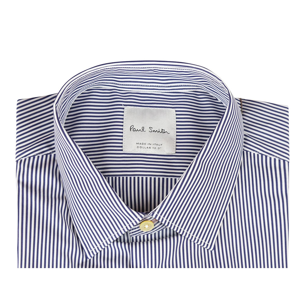 Paul Smith Gents S/C Slim Shirt Blue Stripe