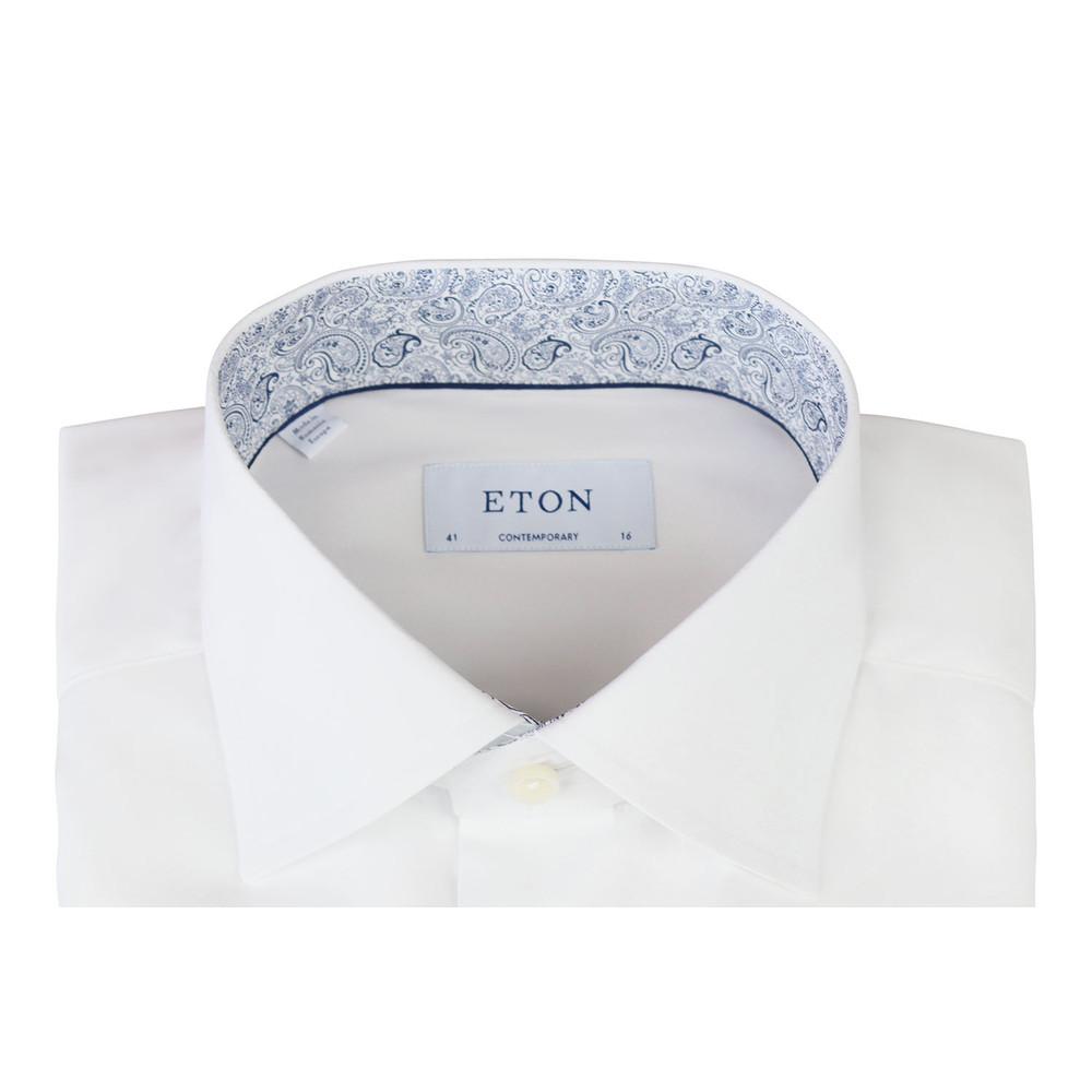 Eton Slim Fit  White Shirt Pink