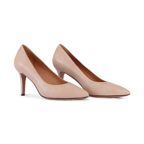 Aristocrat Mid Heel Leather Court Shoe