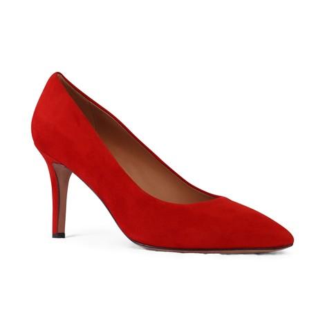 Aristocrat Mid Heel Suede Court Shoe