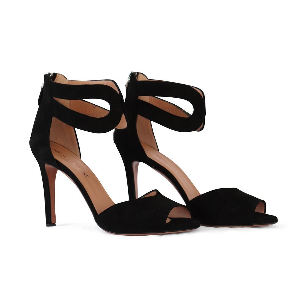 Aristocrat Peep Toe Ankle Strap Sandal Black