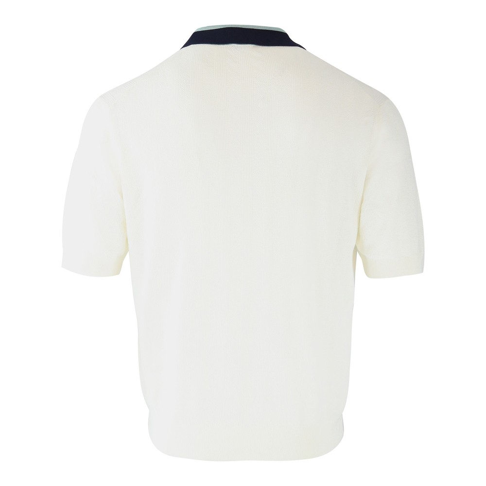 Paul Smith Knitted Polo Top Cream