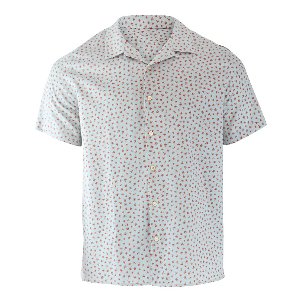 PS Paul Smith Palm Tree Print Short Sleeve Shirt Mint