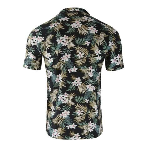 Circolo Camicia M/M Jersey Short Sleeve Shirt Black Floral