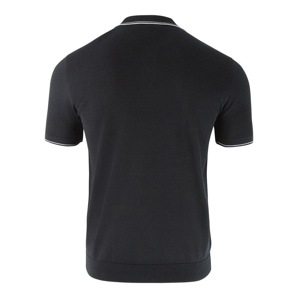 Emporio Armani Knitted Polo Shirt Black