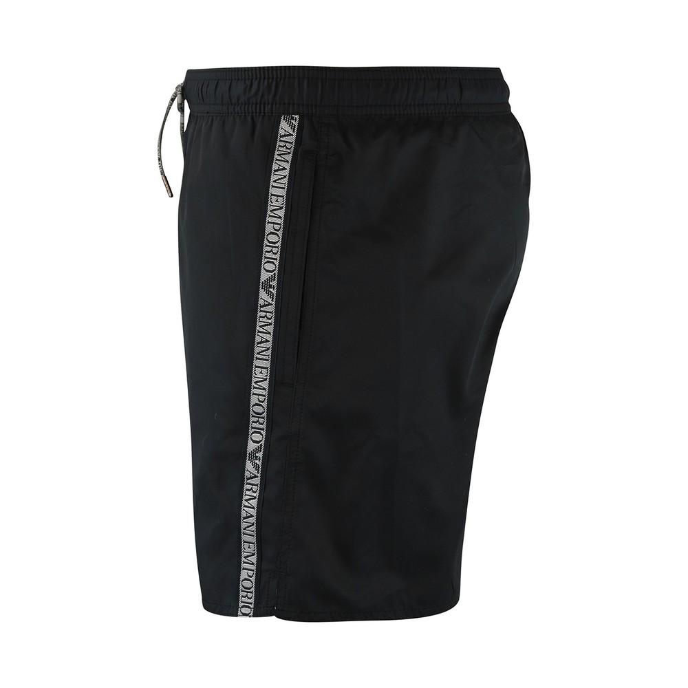 Emporio Armani Logo Tape Boxer Swimwear Black