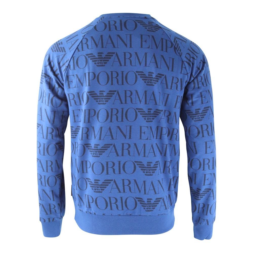 Emporio Armani Crew Neck Long Sleeve Sweater Blue