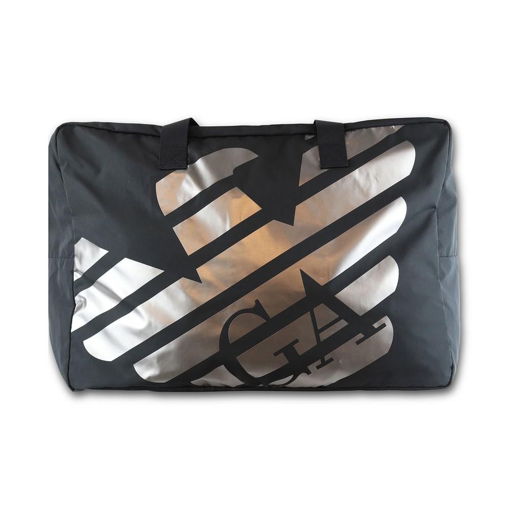 Emporio Armani Eagle Logo Duffle Beach Bag Black