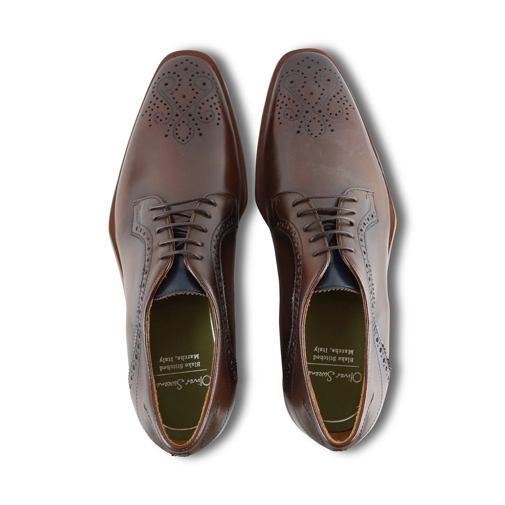 Oliver Sweeney Bonorva Dark Tan Shoe Dark Tan