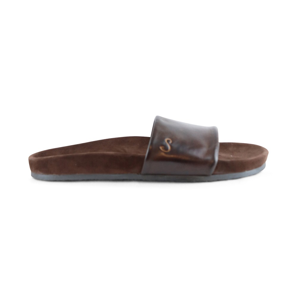 Oliver Sweeney Albufeira Leather Slider Brown