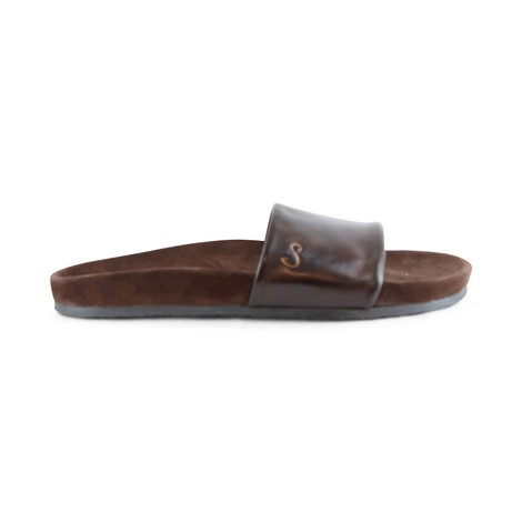 Oliver Sweeney Albufeira Dark Brown Leather Slidder