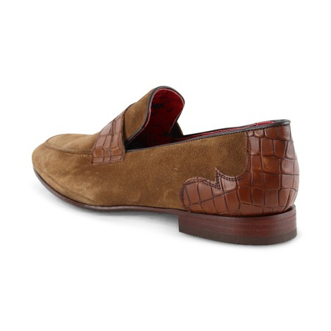 Jeffery West Martini Loafer - Suede Croc