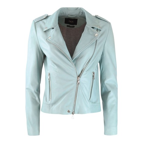 Set Tyler Leather Jacket in Mint