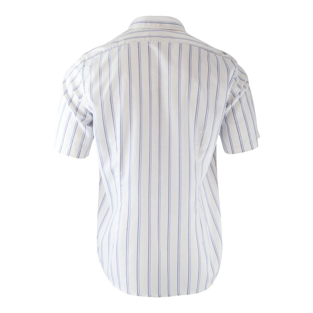 Eton Sky Blue/Navy Stripe Contemporary Short Sleeve Shirt Sky Blue Stripe