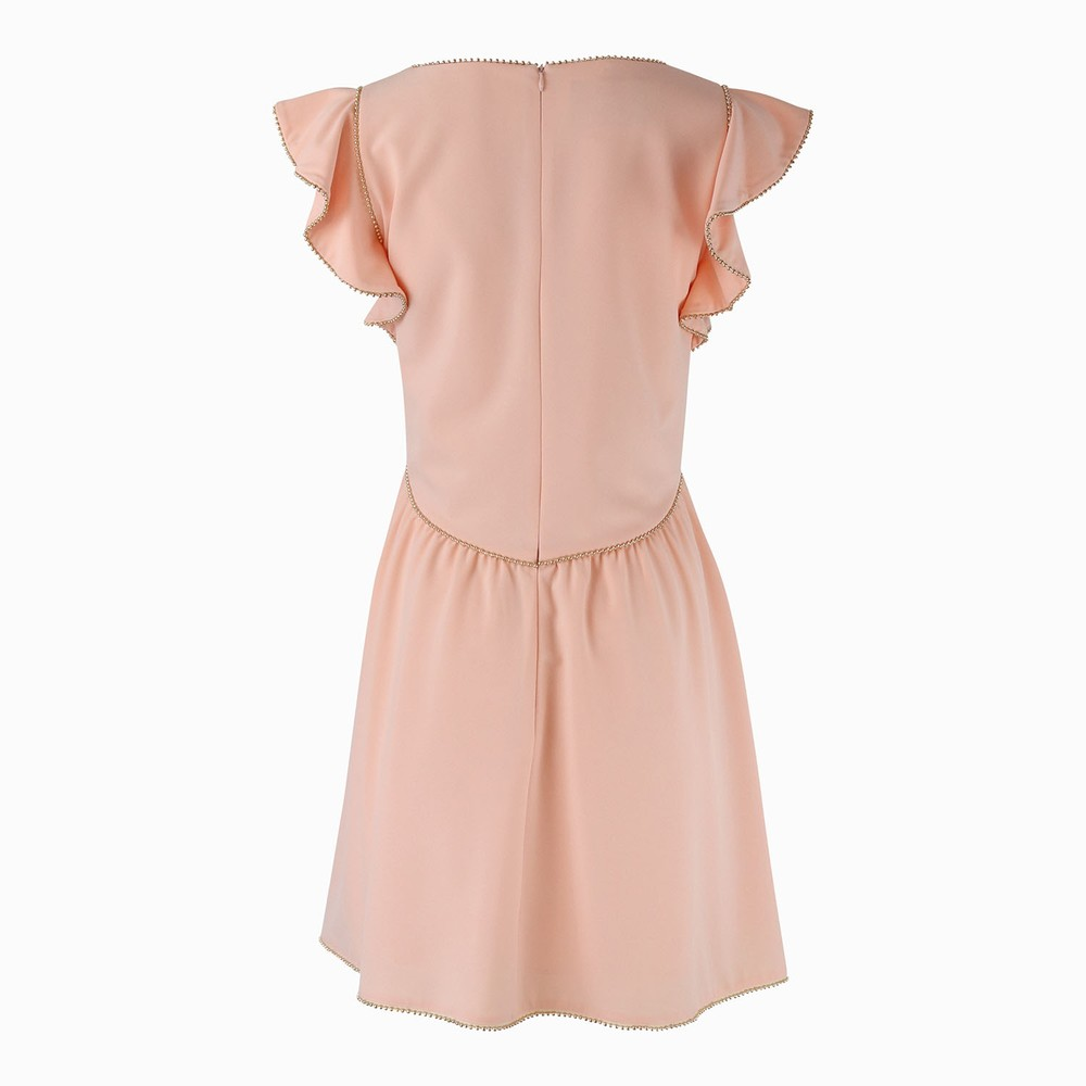 Moschino Boutique Stud Detail Short Dress Blush