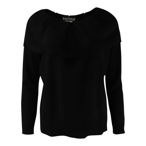 Moschino Boutique Black Frill Knit