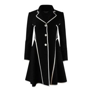 Moschino Boutique Black Sparkle Tweed Coat