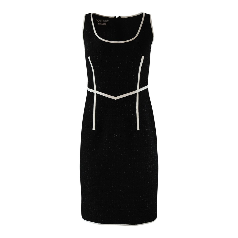 Moschino Boutique Tweed Sparkle Dress Black