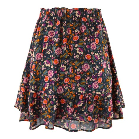 Set Floral Frill Skirt
