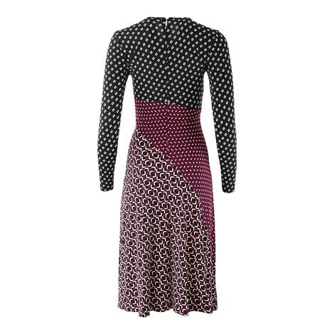 Michael Kors Longsleeve Multi Print Midi Dress