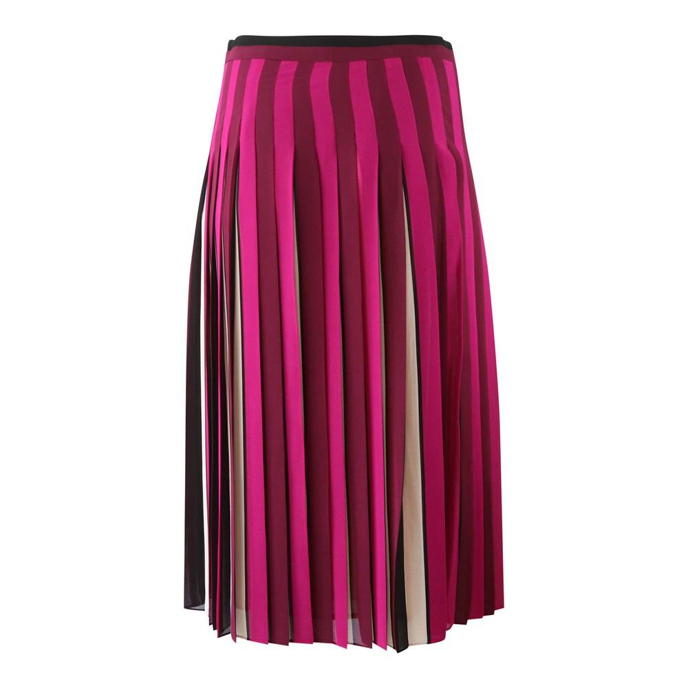 Michael Kors Midi Pleated Skirt Multi