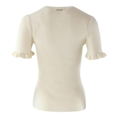 Michael Kors Ruffle Short Sleeve Knit