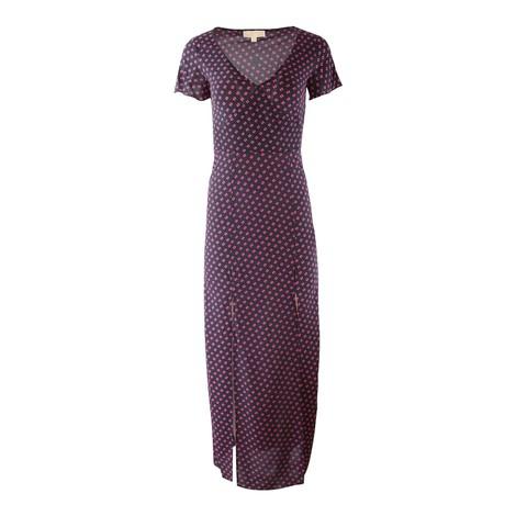 Michael Kors Slice Dots Slit Maxi Dress