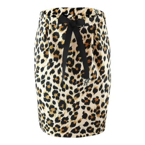 Moschino Boutique Animal Print Skirt
