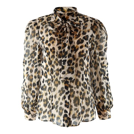 Moschino Boutique Animal Print Blouse in Animal Print