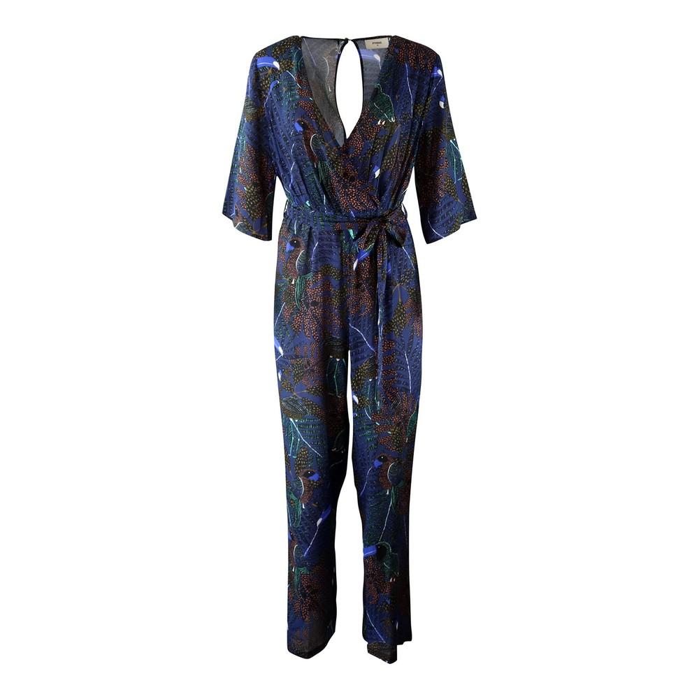 Pyrus Viola Printed Jump Suit Blue