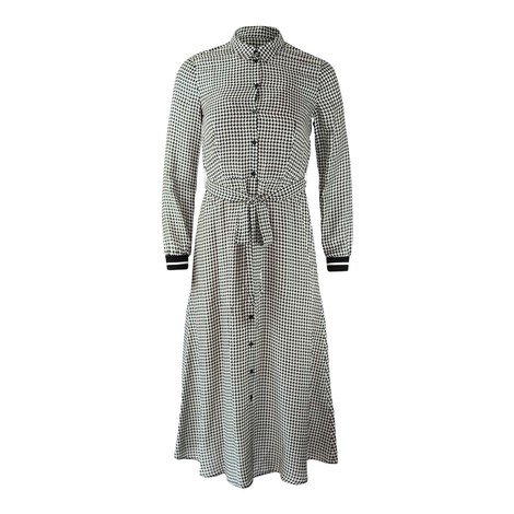 Set Houndstooth pattern Maxi Dress