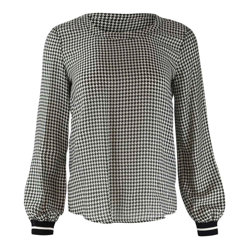 Set Houndstooth blouse Black & White