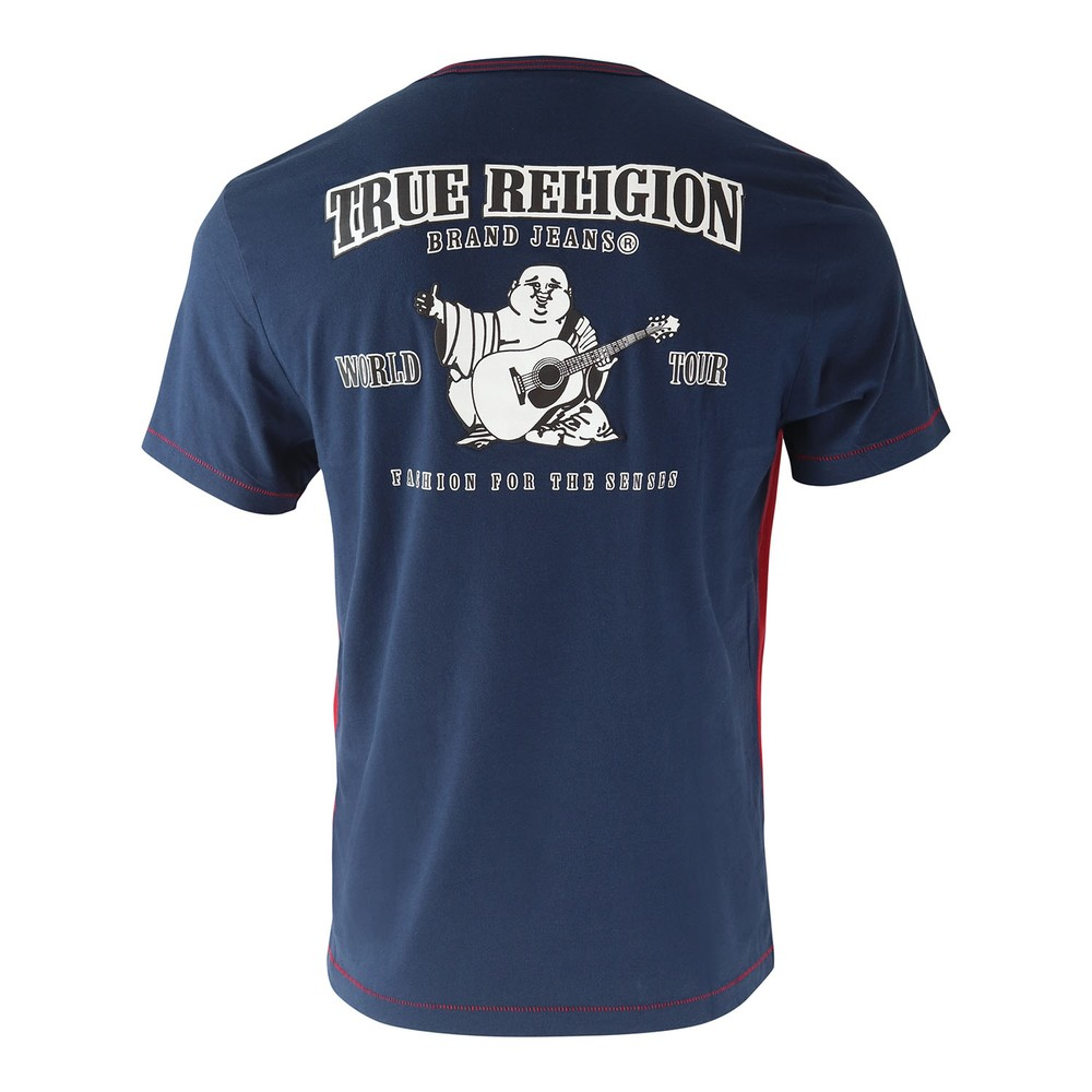 True Religion Americana Football SS Tee Blue and Red