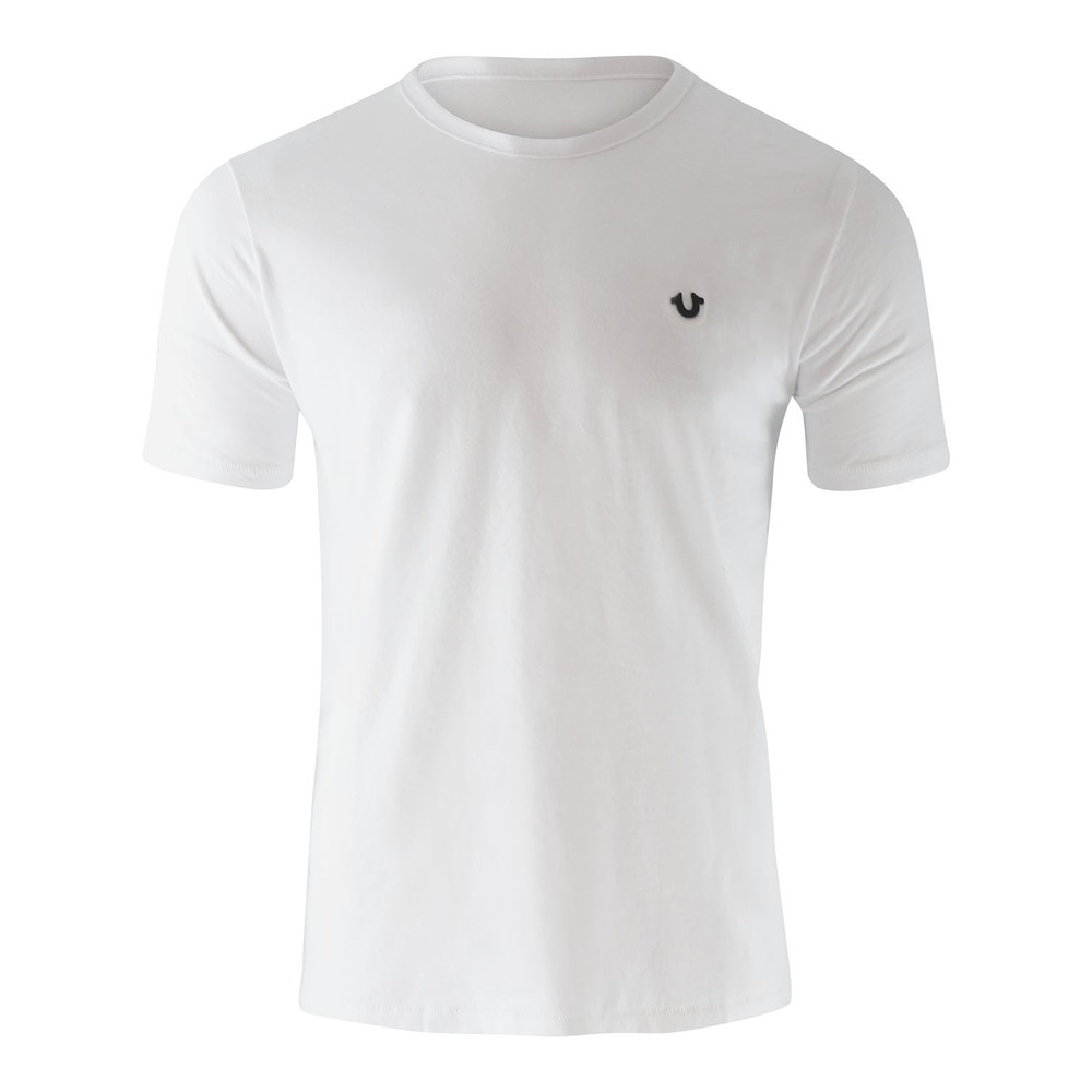 True Religion Crew T-Shirt Metal Horseshoe White