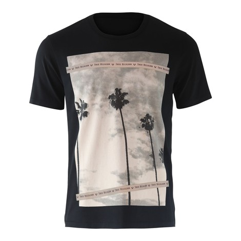 True Religion SS Palm Tree Photo Print Tee