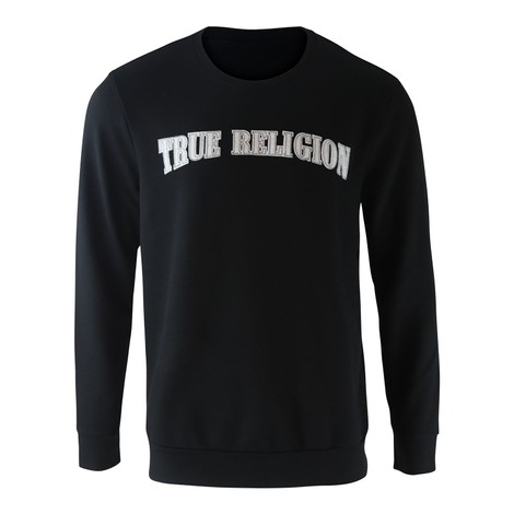 True Religion TR Felt Logo Thread Crewneck